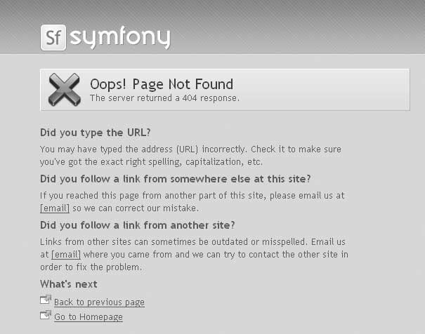 Symfony: настраиваем собственные обработчики ошибок (404, 500 ...